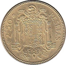 Imagen de la categoría Piezas de 1, 2'50 y 5 Pesetas