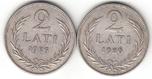 Foto de 1925 y 1926 LETONIA 2 LATI