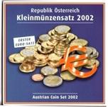 Foto de 2002 AUSTRIA SET EUROS 8p BU