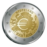 Foto de 2012 HOLANDA 2 EUROS X Aniv. CIRCULACION EURO