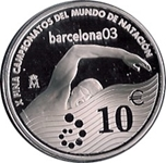 Foto de 2003 ESPAÑA 10 EUROS NATACION MUNDIAL