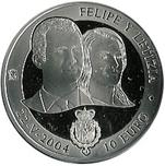 Foto de 2004 BODA REAL 10 EUROS PLATA