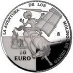 Foto de 2005 QUIJOTE 10 EUROS MOLINOS VIENTO