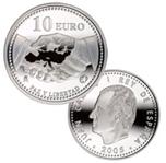 Foto de 2005 PAZ Y LIBERTAD 10 EUROS PLATA