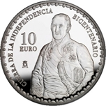 Foto de 2008 BIC.GUERRA INDEPENDENCIA 10 EUROS G.CASTAÑOS