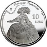 Foto de 2008 PINTURA - VELAZQUEZ 10 EUROS PLATA