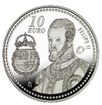 Foto de 2009 FELIPE II 10 EUROS PLATA
