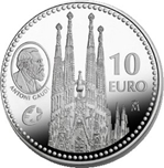 Foto de 2010 GAUDI 10 EUROS PLATA Programa Europa
