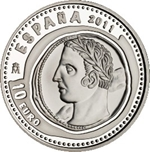 Foto de 2011 JOYAS NUM.  10 EUROS SHEKEL HISPANO-CARTAGINES