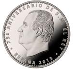 Foto de 2013 75 Aniversario de S.M REY 10 EUROS PLATA