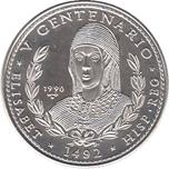Foto de 1990 CUBA 10 Pesos REINA ISABEL