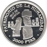 Foto de 1997 UNESCO 2000Pts ISLA PASQUA PLATA
