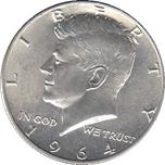 Foto de 1964-F USA 1/2 DOLAR KENNEDY