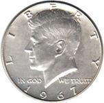Foto de 1966-F USA 1/2 DOLAR KENNEDY