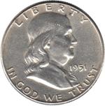 Foto de 1951-F USA 1/2 DOLAR FRANKLIN