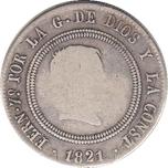 Foto de 1821 FDO VII 10 REALES MARDRID SR. Ord.Cat.24