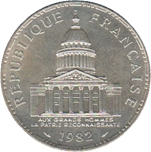 Foto de 1982 FRANCIA 100 FRANCOS PANTHEON