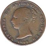 Foto de 1842 GIBRALTAR 1/2 QUART VICTORIA COBRE