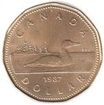Foto de 1987 CANADA 1$ Cu ANADE Lote 13 piezas