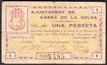 Foto de 1937 AJ.CASSA DE LA SELVA 1PTA. Ord.Cat.14