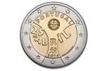 Foto de 2014 PORTUGAL 2 EUROS REVOLUCION CLAVELES
