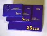Foto de 1992 SERIE ECUS 3 piezas plata: 1 + 5 + 25