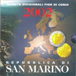 Foto de 2002 SAN MARINO SET EUROS 8p. CARTERA