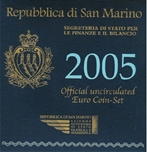 Foto de 2005 SAN MARINO SET +5 EUROS 9p