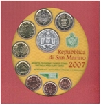Foto de 2007 SAN MARINO 8p+5 EUROS SET