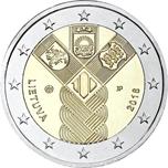 Foto de 2018 LITUANIA 2 EUROS ESTADOS BALTICOS