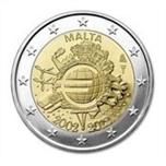 Foto de 2012 MALTA 2 EUROS X Aniv. CIRCULACION EURO