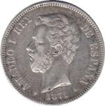 Foto de 1871*1874 AMADEO I 5 PESETAS DE M. Ord.Cat.8