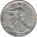 Foto de 1991 USA 1$ LIBERTAD ANDANDO PLATA