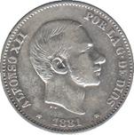 Foto de 1881 AL.XII 50 CENTAVOS DE PESO MANILA. Ord.Cat.23