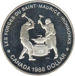 Foto de 1988 CANADA 1$ P PROOF FORGES