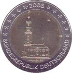 Foto de 2008 ALEMANIA 2 EUROS IGLESIA HAMBURGO