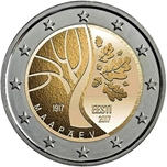 Foto de 2017 ESTONIA 2 EUROS INDEPENDENCIA