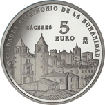 Foto de 2014 CIUDADES PATRIMONIO CACERES 5 EUROS