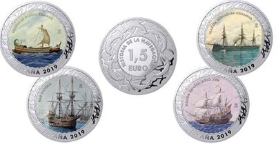 Foto de 2019 HISTORIA NAVEGACION 1 1/2 EUROS - 4 piezas 4ª ENTREGA