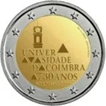 Foto de 2020 PORTUGAL 2 EUROS UNIVERSIDAD COIMBRA