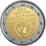 Foto de 2020 PORTUGAL 2 EUROS NACIONES UNIDAS