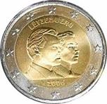Foto de 2006 LUXEMBURGO 2 EUROS DUQUES HENRY y GUILLAUME