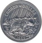 Foto de 1980 CANADA 1$ PLATA PROOF OSO