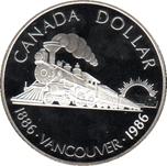 Foto de 1986 CANADA 1$ P PROOF VANCOUVER
