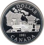 Foto de 1981 CANADA 1$  PROOF TREN