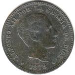 Foto de 1878 ALF.XII 5 CTMOS. BARCELONA. Ord.Cat.13