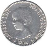 Foto de 1892*92 ALF.XII 50CTMOS PGM. Ord.Cat.38