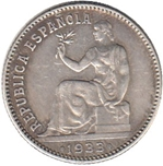 Foto de 1933*34 II REPUBLICA 1 PESETA. Ord.Cat.73