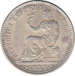 Foto de 1933-34 II REPUBLICA 1 PESETA. Ord.Cat.74