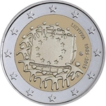 Foto de 2015 LITUANIA 2 EUROS BANDERA EUROPEA